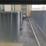The view of the AC units from the 2nd floor room we were in.