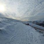 The snowy path up Latrigg...