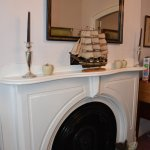 one of the 2 Victorian original fire places in the dinning room