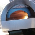 Pizza oven at this restaurant