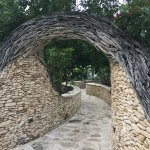 Cool archway on the way to the marina.