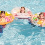 Swimming in the outdoor heated Winnetu pool.