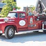 Going for a fun ride in the Winnetu's antique fire truck.