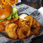 grouper sandwich with fries