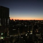 Sunrise over Tokyo with Tokyo Tower in the distance
