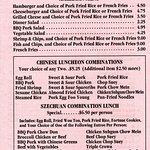 Amderican menu