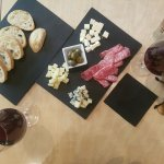 Red vine and selection of cheeses