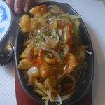 Crevettes sur plaque chauffante extra