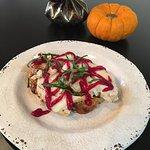 Turkey Cranberry Sandwich - gluten free honey bread, mustard, turkey, cranberry sauce
