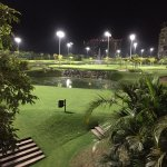 Lighted golf course