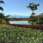 Beautiful gardens with mountains of central Mexico in the background