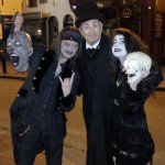 Silas with actors from the Jack the Ripper Walk