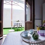 camera matrimoniale con cortile privato