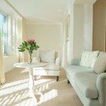 Natural light and elegant decor.
