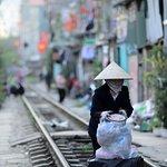 Lives beside the Hanoi train tracks is very interesting