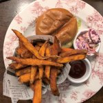 Gourmet Chicken Burger with Sweet Potato Fries