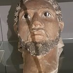 Painted plaster head