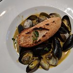 Great mussels and clams on Happy hour
