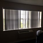 various slats missing from window blind