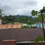 View from the upper deck of Arenal Volcano. In this case you can see some of the tree line.