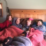 Grandkids spending time with grandparents