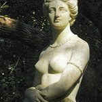 The famous statue of Virginia Dare, sculpted in Italy by Maria Louisa Lander.