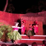 Dancers during the luau