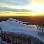 Sunset over the ski hills