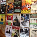 Wall advertising music events