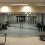 Second area: treadmills, stair climber, elliptical, bikes, free weights