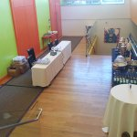 Anchusa Foyer setup with beverage station & registration table