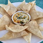 Great margarita and outstanding spinach artichoke dip and home-made chips!