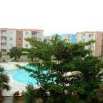 View from the balcony of serena Village condo