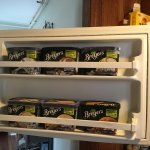 6 containers of Breyer's all natural ice-cream available for guests