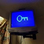 Broken 80s tv