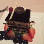 The chocolate dessert for 2
