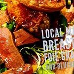 local Mallard breast with foie gras