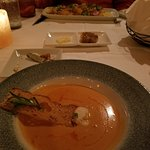 Lobster bisque, very good.
