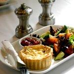 Quiche with Garden Salad