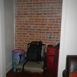 little area where we stored our luggage in living room