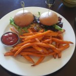 Azul Salmon Sliders and Sweet Potato Fries