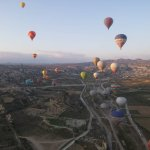 di ketinggian di balon udara