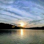 Sunset view while kayaking