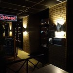 Nightly front view of the restaurant -