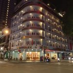 Huong Sen Hotel at night