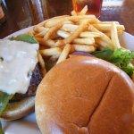green chili cheese burger