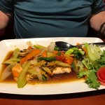 Salmon in ginger sauce