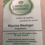 Photo de L'Entrecôte Couronnée