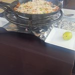 Paella being cooked at the Hotel restaurant