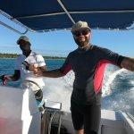 Peter and Jordan at Sharky's Dive Shop